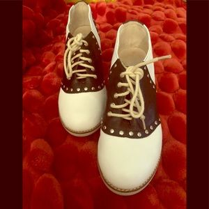 Jeffrey Campbell B/W Hidden Wedge Saddle Shoes 8.5